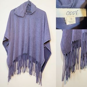 ODDY | Fringe Hooded Poncho | Small